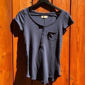 Hollister|Navy Blue T-Shirt
